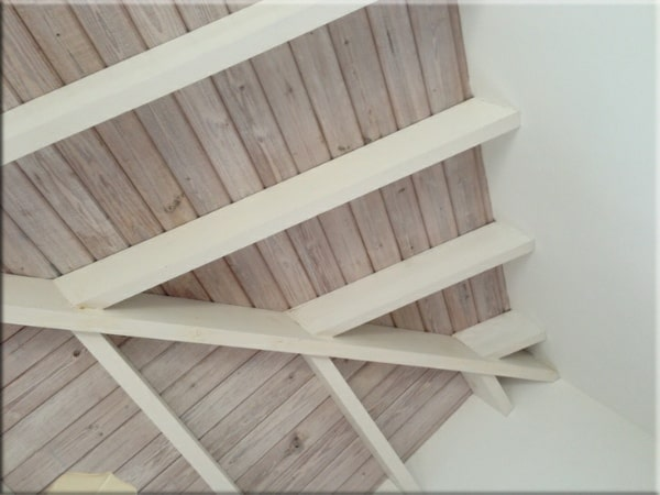 Whitewash Your Wood Ceilings or Furniture